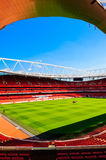 Pitch view, inside The Emirates Stadium Stock Photography