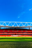 Pitch view, inside The Emirates Stadium Royalty Free Stock Photo