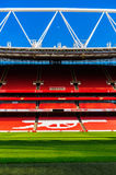 Pitch view, inside The Emirates Stadium Stock Images