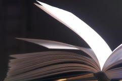 Pitched pages - Aufgeschlagene Seiten. White page of a big book - Weisse Seite eines dicken Buches royalty free stock photos
