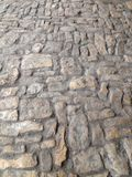 Pitched surface. A cobbled lane in Chipping Campden, Cotswolds, England & x28;portrait orientation& x29;. Taken by Matthew Oakes stock images