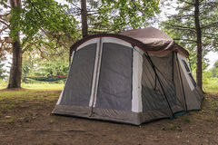 Pitched Tent Stock Photo
