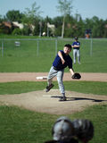 Pitcher. A young boy playing pitcher on a baseball team Stock Images