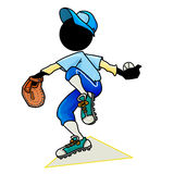 Pitcher. Silhouette-man sport icon - baseball player pitcher Royalty Free Stock Photos