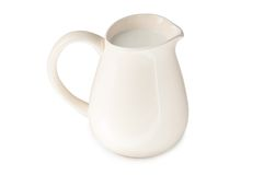 Pitcher. White pitcher isolated on white stock image
