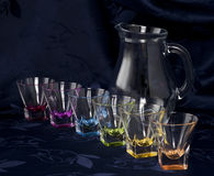 Pitcher And Glasses 2 Royalty Free Stock Images