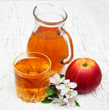 Pitcher with apple juice Royalty Free Stock Image