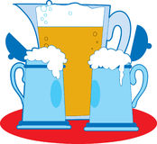 Pitcher and Beers Royalty Free Stock Photo