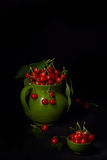 Pitcher With Cherries Stock Images