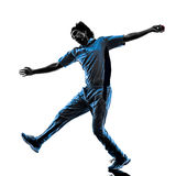 Pitcher Cricket player  silhouette Royalty Free Stock Photography
