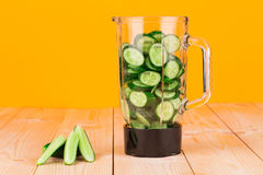 Pitcher with cucumbers Royalty Free Stock Images