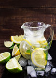 Pitcher with fresh fruit tonic water Royalty Free Stock Photography