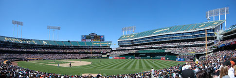 Pitcher gets ready to throw at Oakland Coliseum stock photography