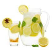 Pitcher and glass of lemonad Stock Photo