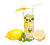 Lemonade with mint Royalty Free Stock Photos