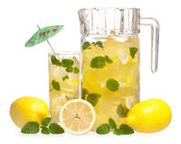 Lemonade with mint Stock Image