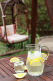 Pitcher and  glasses of fresh lemonade Stock Images