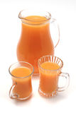 Pitcher and glasses with orange juice Royalty Free Stock Image