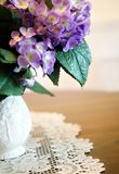 Pitcher with hydrangea Stock Images