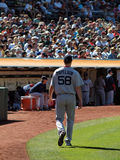 Pitcher Jonathan Papelbon walks towards the Dugout stock images