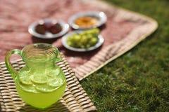 Pitcher of lemonade. Stock Photo