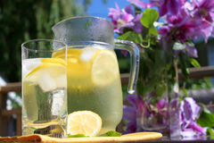 Pitcher of Lemonade Stock Photo