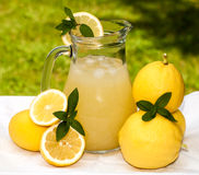 Pitcher With Lemonade Stock Images