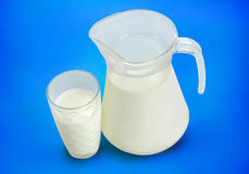 Pitcher with milk Royalty Free Stock Photos