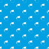 Pitcher of milk pattern seamless blue Stock Images