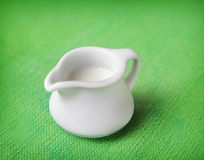 Pitcher of milk Stock Images