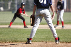 Pitcher on mound Royalty Free Stock Photo