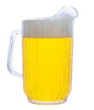 Pitcher Of Beer On White Stock Photography
