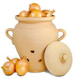 Pitcher for onions Royalty Free Stock Photo