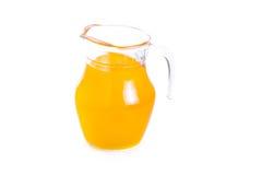 Pitcher of orange juice isolated on white background Royalty Free Stock Photography