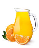 Pitcher of orange juice Stock Photos