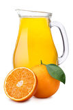 Pitcher of orange juice Royalty Free Stock Photos