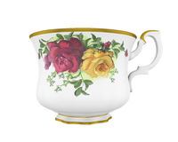 Pitcher with a pattern. Ceramic milk or creamer pitcher with a pattern of roses and gold in classic style Stock Photography