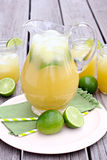 Pitcher of Pineapple Mint Limeade Stock Photography
