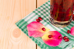 Pitcher of pomegranate Stock Image