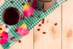 Pitcher of pomegranate juice Stock Image