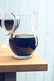 Pitcher of red wine Stock Image