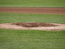 The pitcher's mound stock photography