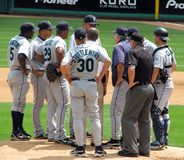 Pitcher's Mound Conference Royalty Free Stock Photo