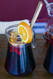 Pitcher of sangria Royalty Free Stock Images