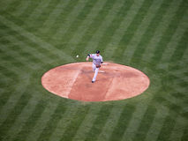 Pitcher Shaun Marcum throws pitch ball can be seen Royalty Free Stock Image