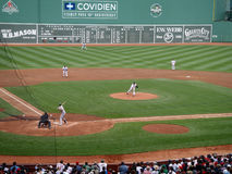 Pitcher Tim Wakefield throws a knuckleball pitch stock image