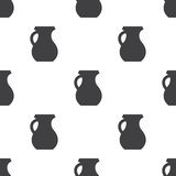 Pitcher, vector seamless pattern. Editable can be used for web page backgrounds, pattern fills Stock Photo