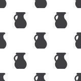 Pitcher, vector seamless pattern Stock Photo