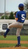 Pitcher Windup back view royalty free stock photos