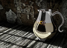 Pitcher on wooden floor Royalty Free Stock Photos